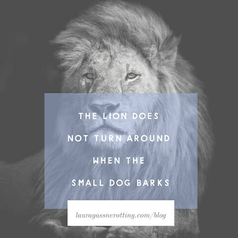 The Lion Does Not Turn Around When the Small Dog Barks | Limitless